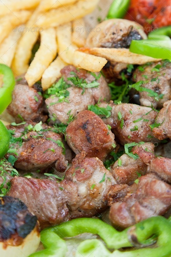 lamb kebab - Stock Photo - Images