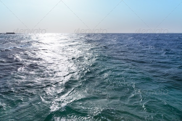 sunset on Read Sea - Stock Photo - Images
