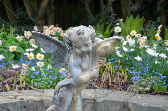 Garden angel - Stock Photo - Images