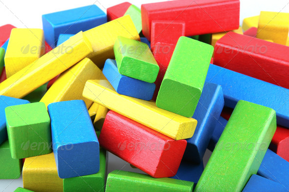 Wooden building blocks - Stock Photo - Images