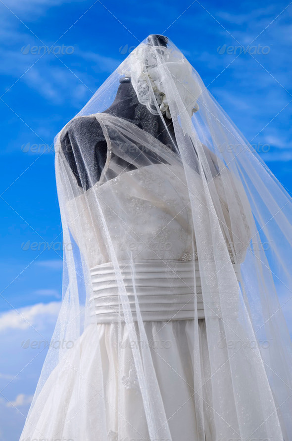 Wedding Gown - Stock Photo - Images