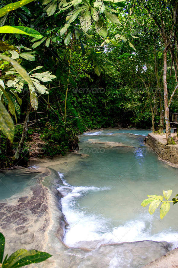 Dunn's River Falls in Ocho Rios - Stock Photo - Images