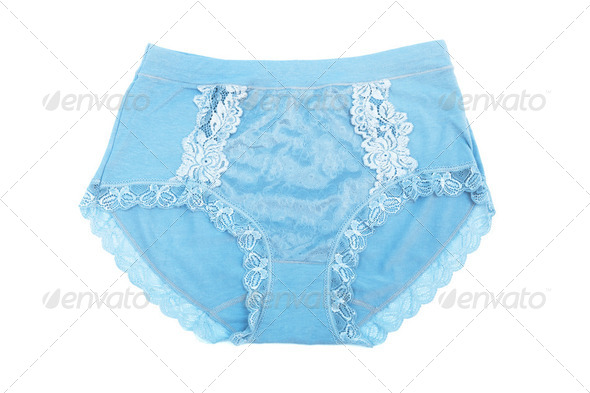 Women blue panties - Stock Photo - Images