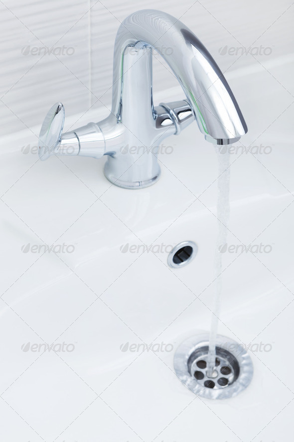 water in a sink - Stock Photo - Images