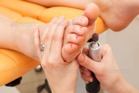 female feet pedicure - Stock Photo - Images