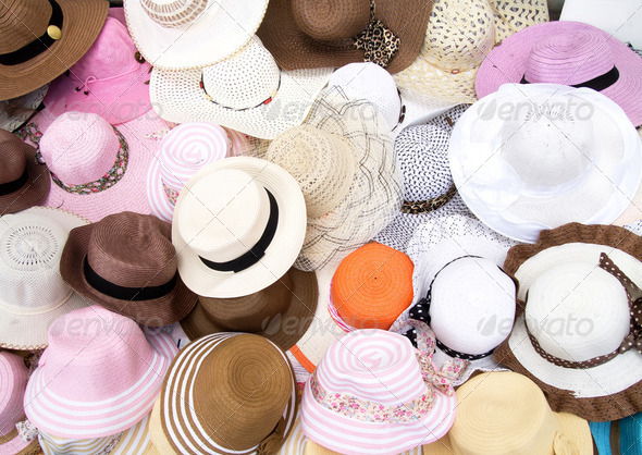Various Fashion Hats - Stock Photo - Images