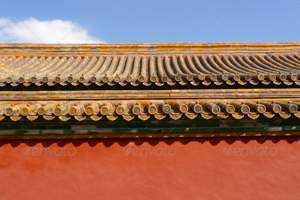 Traditional chinese roof detail - Stock Photo - Images
