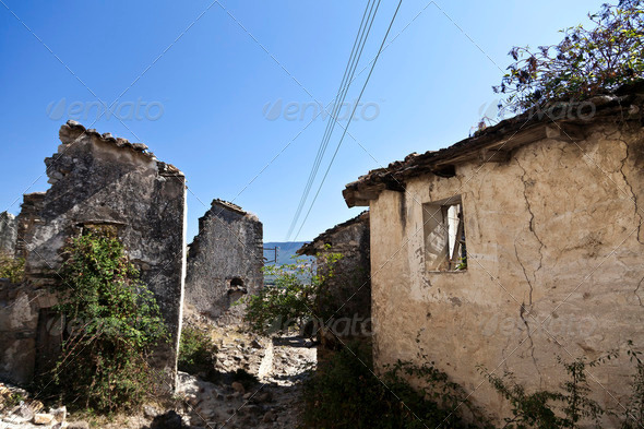 Ruins of Esco in Spain - Stock Photo - Images