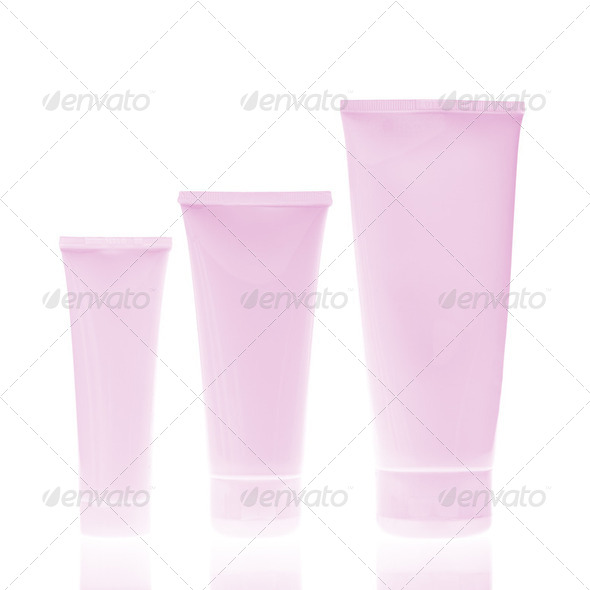 cosmetic bottles - Stock Photo - Images