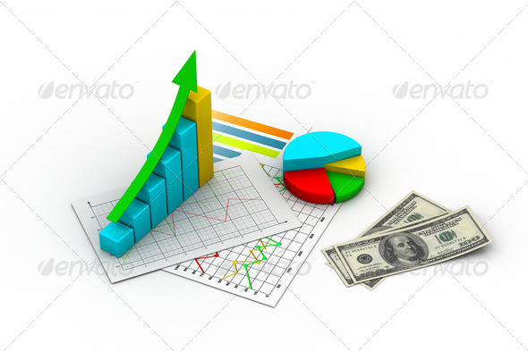 business graph, chart, diagram, bar - Stock Photo - Images