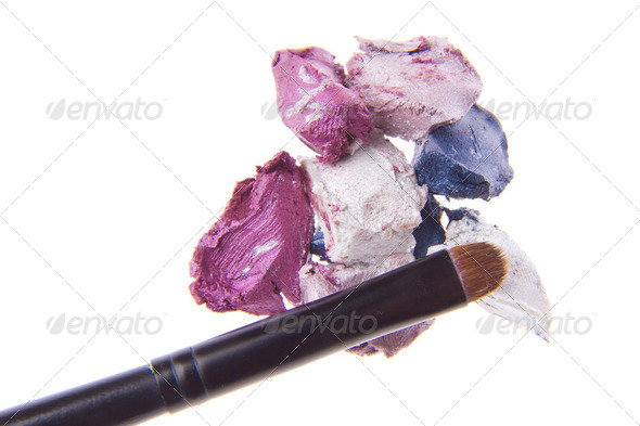 cream eyeshadows - Stock Photo - Images