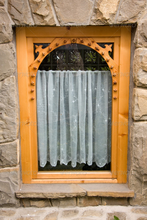 Traditional wooden window - Stock Photo - Images