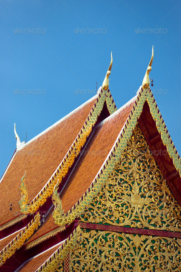 Temple roof - Stock Photo - Images