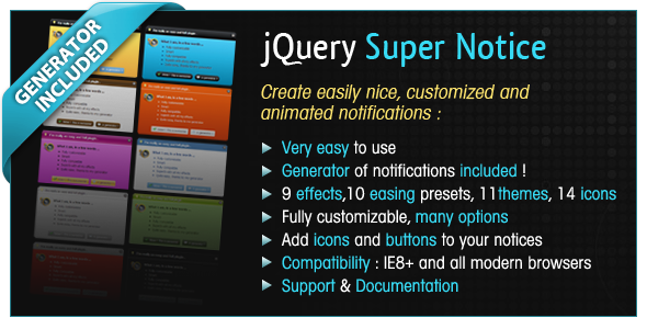 CodeCanyon jQuery Super Notice 3206035