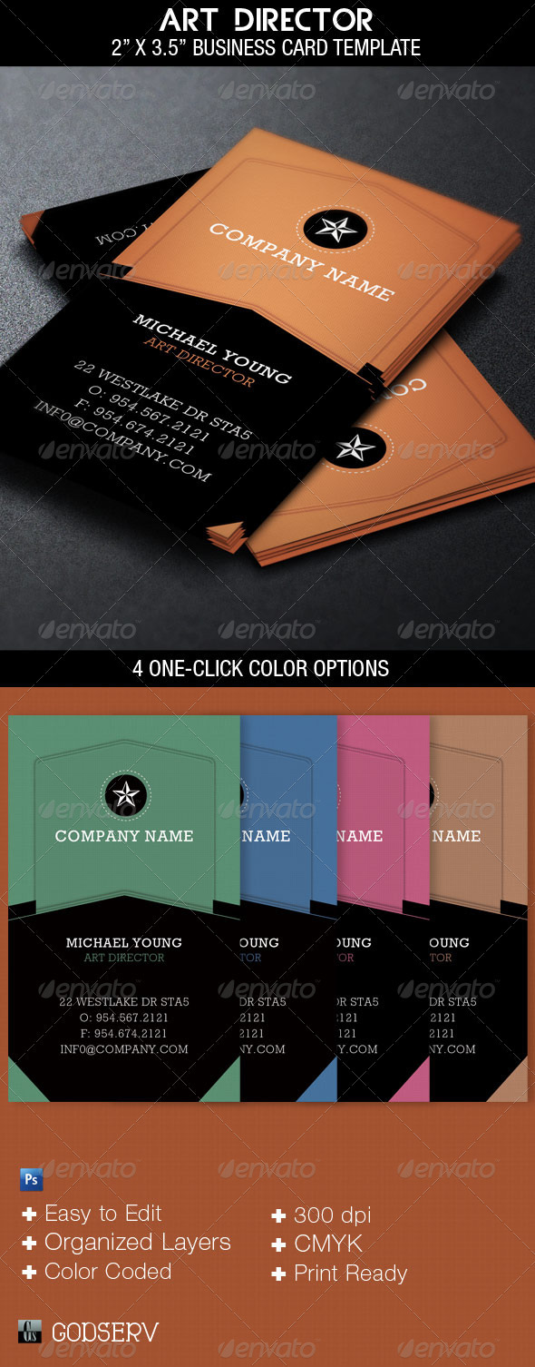 GraphicRiver Art Director Business Card Template 3331749