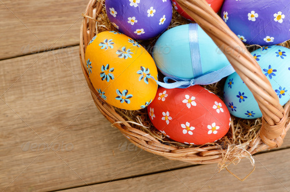 Easter basket - Stock Photo - Images