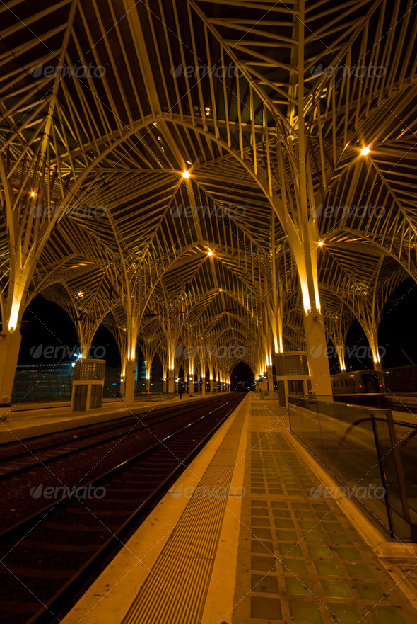 Railway station Oriente - Stock Photo - Images