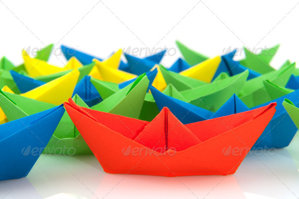 paper boats - Stock Photo - Images