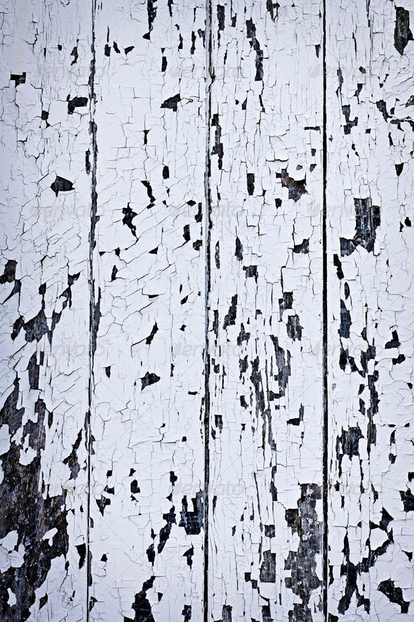 Old painted wood background - Stock Photo - Images