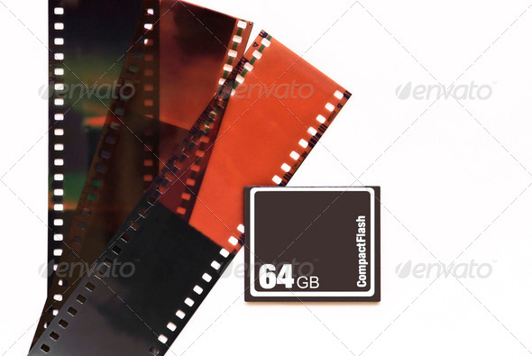 Old and new photo storage technology - Stock Photo - Images