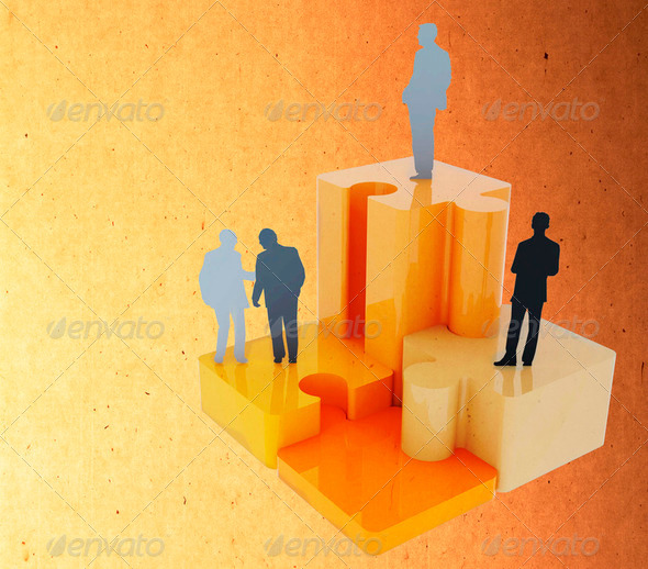 Top of businessmen - Stock Photo - Images