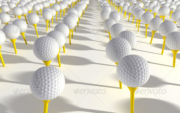 Golf Ball Plantation - Stock Photo - Images
