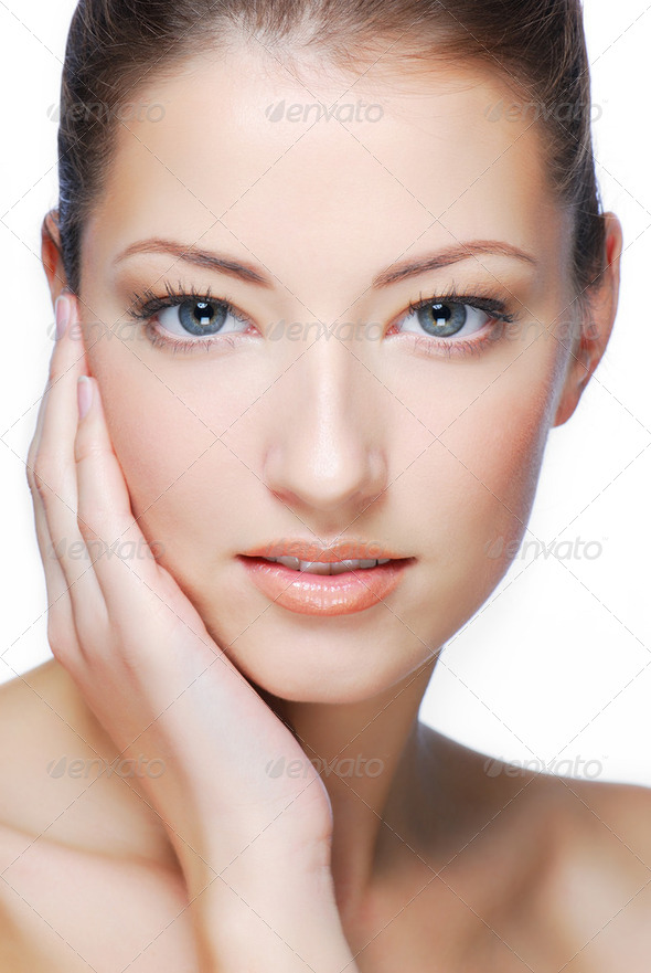 face of beautiful woman - Stock Photo - Images