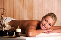 smiling young woman  relaxation in spa salon - PhotoDune Item for Sale
