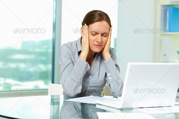 Fatigue female - Stock Photo - Images