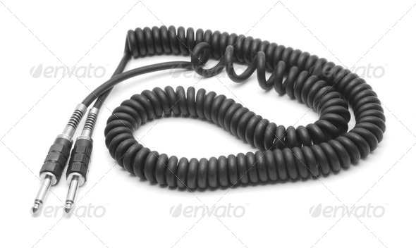 audio cable - Stock Photo - Images