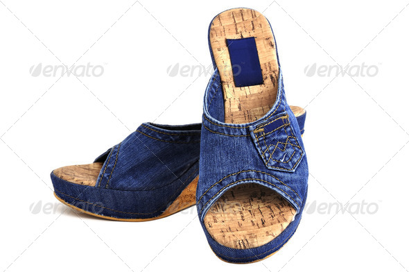 jeans shoes - Stock Photo - Images