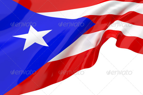 Vector Flags of Puerto Rico - Stock Photo - Images