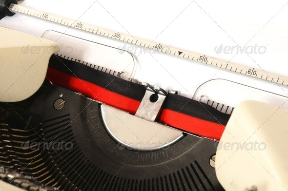 detail of typewriter - Stock Photo - Images