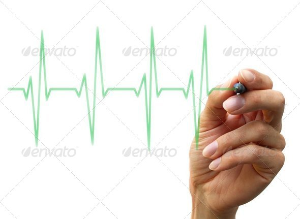 hand drawing a chart - Stock Photo - Images