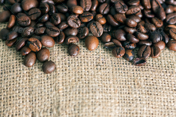 High Resolution Coffee Background With Copy Space - Stock Photo - Images