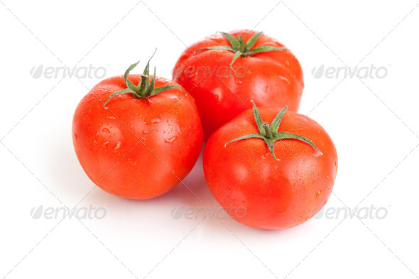 red tomato vegetable fruits - Stock Photo - Images
