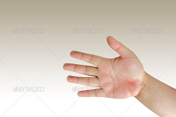 Man hand in the moment - Stock Photo - Images