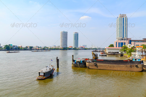 Chao Phraya River in Bangkok - Stock Photo - Images