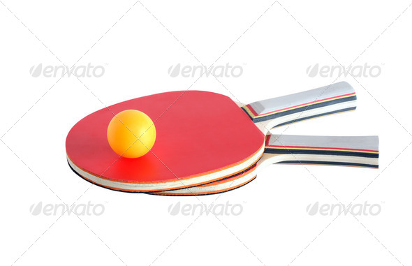 Rackets And Ball - Stock Photo - Images