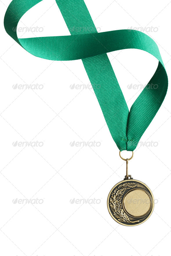 Medal On White - Stock Photo - Images