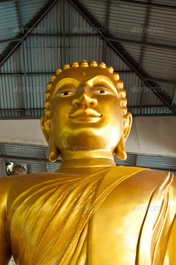 golden buddha statue of thailand - Stock Photo - Images