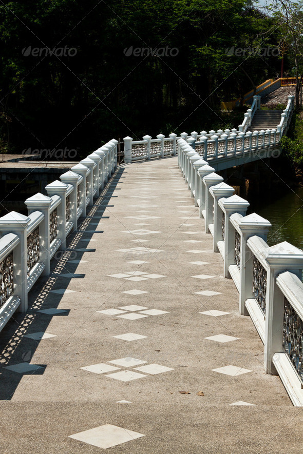 The beautiful bridge. - Stock Photo - Images