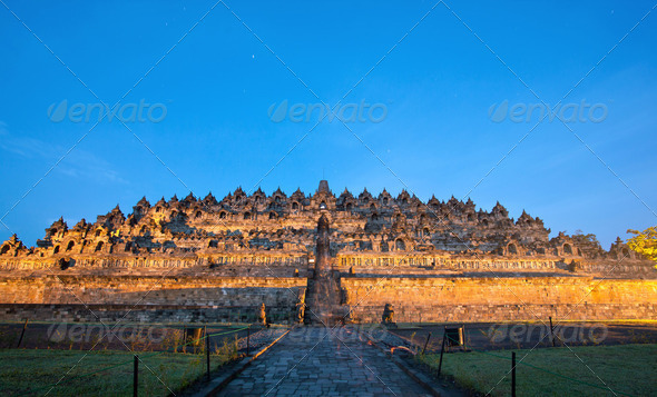 Borobudur Sunrise Indonesia - Stock Photo - Images