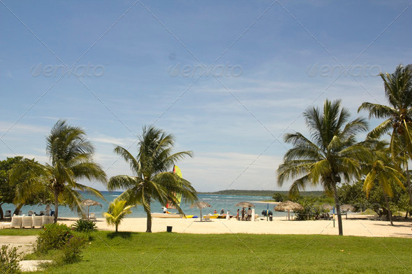 Caribbean beach - Stock Photo - Images