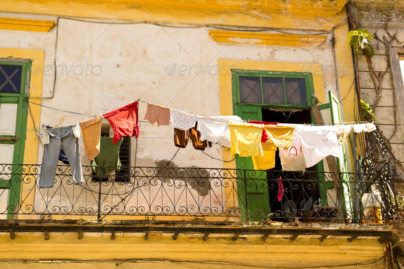 Daily scene in Old Havana - Stock Photo - Images
