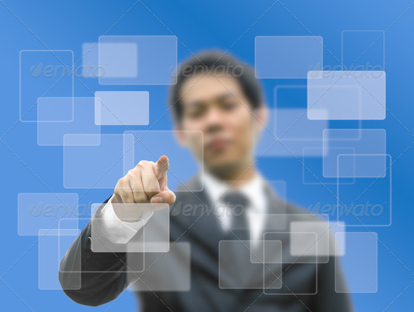 Bussiness man concept hand - Stock Photo - Images