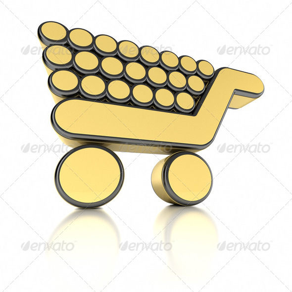 3D Shopping Cart - Stock Photo - Images