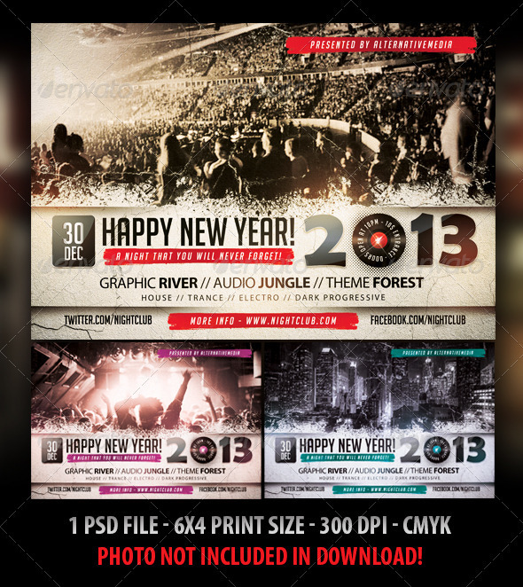 New Year Party / Concert Flyer - Concerts Events