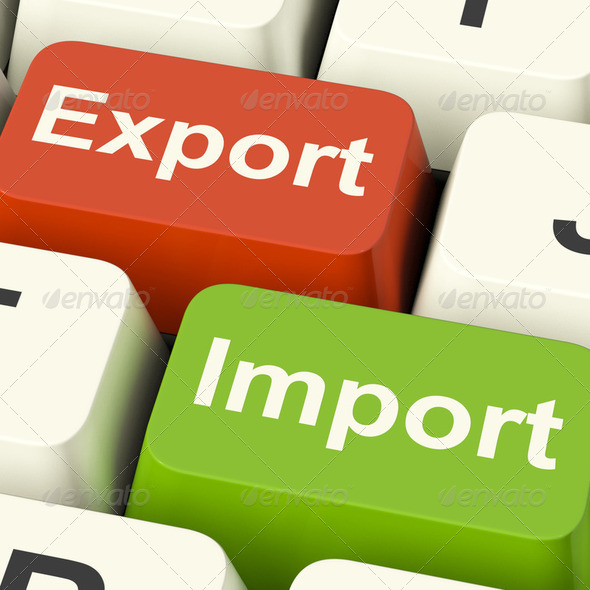 Export And Import Keys Showing International Trade Or Global Com - Stock Photo - Images
