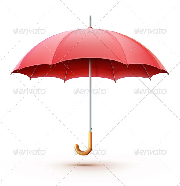 GraphicRiver Red umbrella 3346316